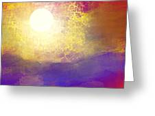 Sun Over The Canyon Greeting Card