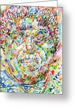 Sun Ra Watercolor Portrait Greeting Card