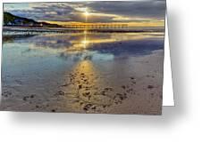 Sun Ray Sunset Saltburn Greeting Card