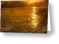 Sun Rays On The Payette River Greeting Card
