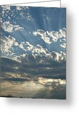 Sun Rays Through The Clouds   # Greeting Card