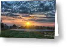 Sun Rays Vs Rain Clouds Greeting Card