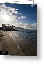 Sun Sand And Waves - Waikiki Honolulu Hawaii Greeting Card
