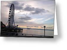 Sun Set Circle Seattle Greeting Card