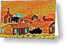 Sun Setting On Bodie Greeting Card