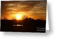 Sun Setting Over The Pond Greeting Card