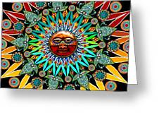 Sun Shaman Greeting Card by Christopher Beikmann