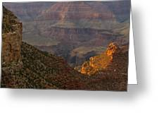 Sun Shining On The Canyons Greeting Card