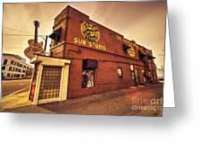 Sun Studios Memphis  Greeting Card