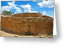 Sun Temple-1250 Ad In Mesa Verde National Park-colorado Greeting Card