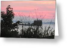 Sun To Rise On The Chesapeake Bay Greeting Card
