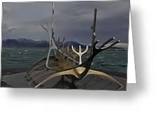 Sun Voyager Reykjavik Greeting Card