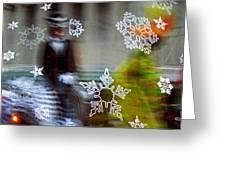 Sunbaked Snowflake Greeting Card