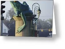 Sunbathing Frog Greeting Card