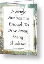 Sunbeam In The Piazza Greeting Card