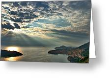 Sunbeams On Dubrovnik Greeting Card