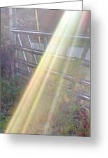 Sunbeams Over Gate Greeting Card