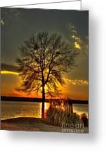 Sunblock A Sunset On Lake Oconee Greeting Card
