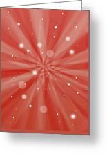 Sunburst Snow Red Greeting Card