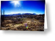 Sundance Aspen Loop-moutain Ranges V2 Greeting Card