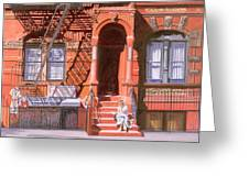 Sunday Afternoon East 7th Street Lower East Side Nyc Greeting Card