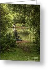 Sunday Fishing At The Lake Greeting Card