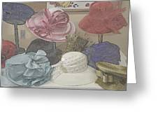 Sunday Hats For Sale Greeting Card