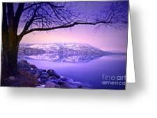 Sunday Morning At Okanagan Lake Greeting Card