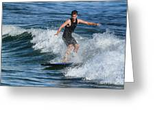 Sunday Morning Surfing Greeting Card