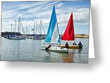Sunday Sailing 2 Greeting Card