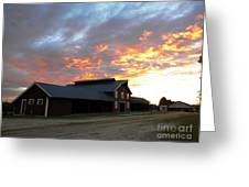 Fire In The Sky Sunday Greeting Card