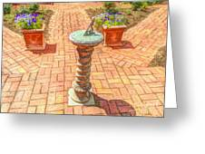 Sundial In The Garden Greeting Card