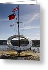 Sundial St Katherines Dock Greeting Card