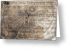 Sundial With Les Miz Greeting Card