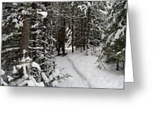 Sundling Creek Snowshoe Greeting Card