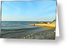Sundown At Lake Erie  Greeting Card