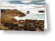 Sundown At Portlethen Greeting Card