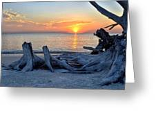 Sundown Greeting Card by Bob Jackson