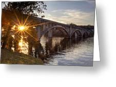 Sundown Bridge Greeting Card