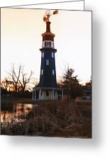 Sundown Dwight Windmill Greeting Card