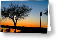 Sundown In South Carolina Greeting Card by Ella Char
