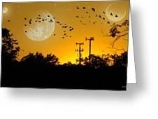 Sundown Fantasy Orange Greeting Card