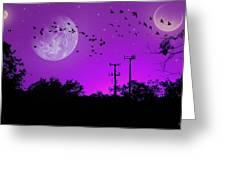 Sundown Fantasy - Violet Greeting Card