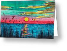 Sundown In The Glades Greeting Card by Beverly Marshall