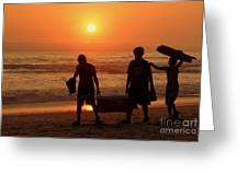 Ocean - Sundown Sunset Greeting Card