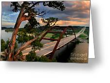 Sundown On Pennybacker 360 Greeting Card