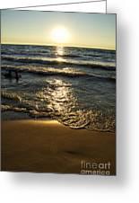 Sundown On The Beach Greeting Card