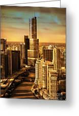 Sundown On Trump Tower Greeting Card