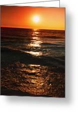 Sundown Reflections On Lake Michigan  01 Greeting Card
