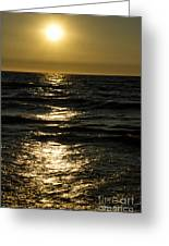 Sundown Reflections On The Waves Greeting Card